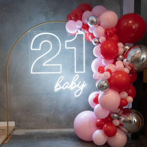 letrero fiesta 21 años