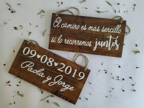 letreros para los novios