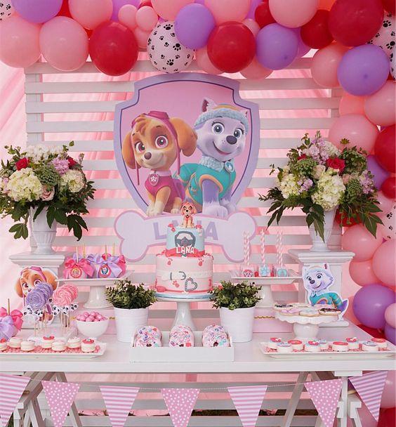 cumpleaños de niña paw patrol