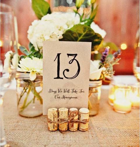 numero de mesa para boda