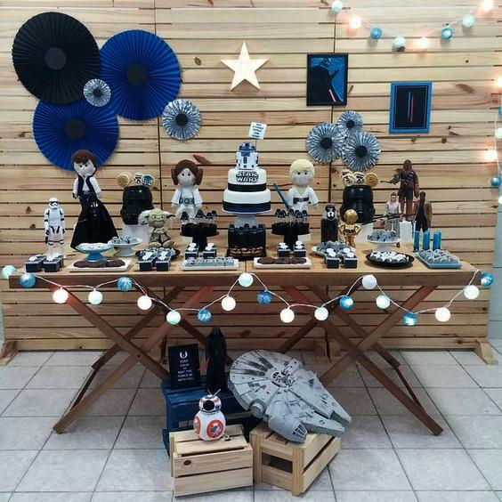 decoracion cumpleaños de star wars