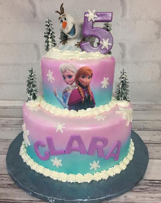 pastel de fiesta frozen