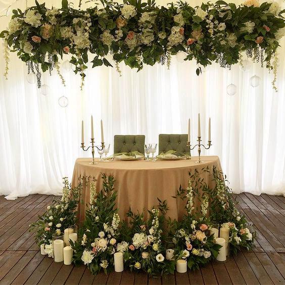 decoracion mesa de novios