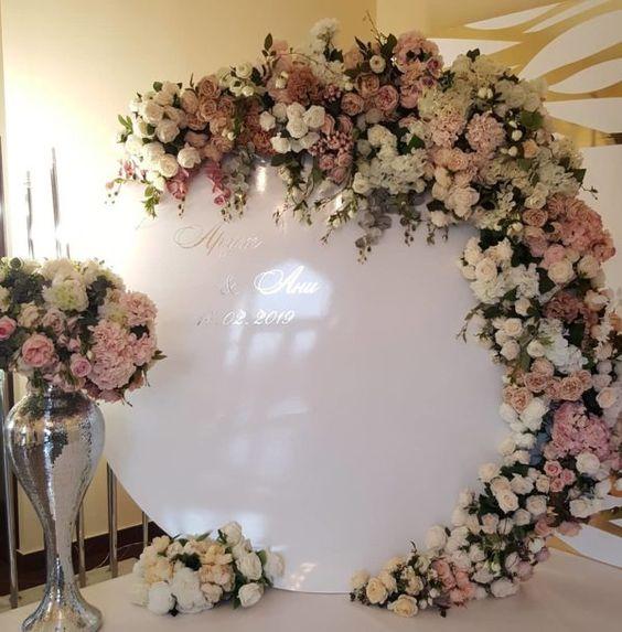 decoracion con flores para boda
