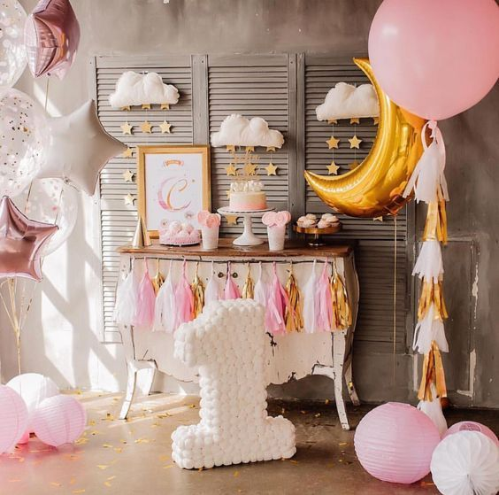 decoracion cumpleaños niña nubes