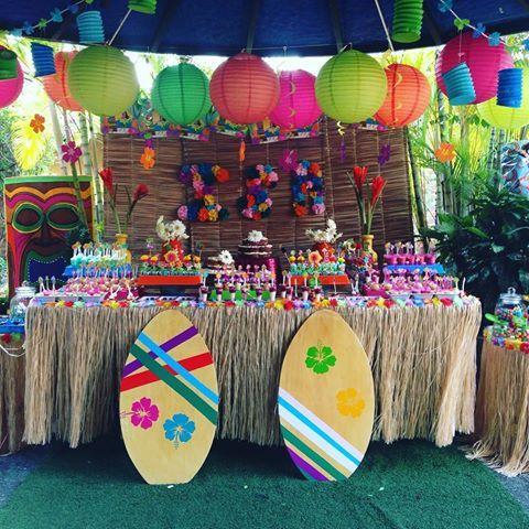 cumpleaños fiesta hawai