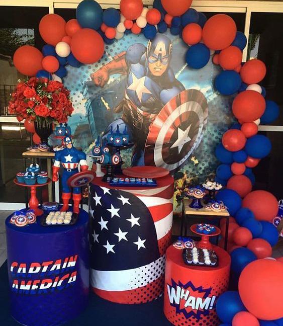 decoracion capitan america