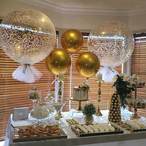 globos gigantes mesa de dulces