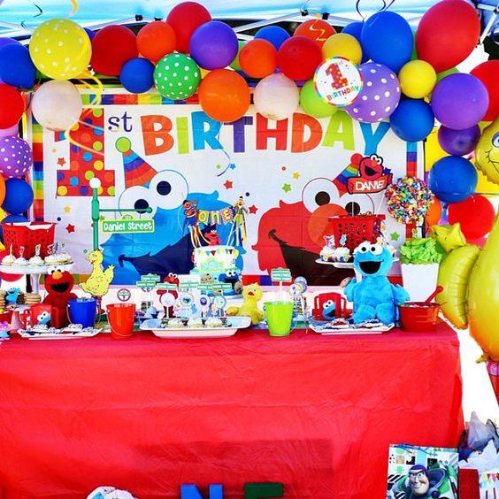 fiesta de cumpleaños plaza sesamo