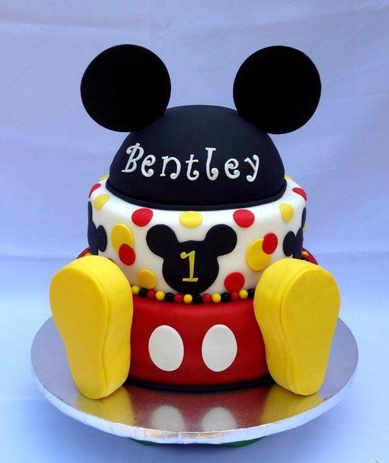 torta cumpleaños de mickey