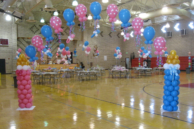 decoracion de baby shower con globos