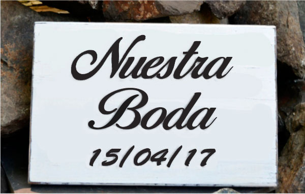 letrero boda de madera chico