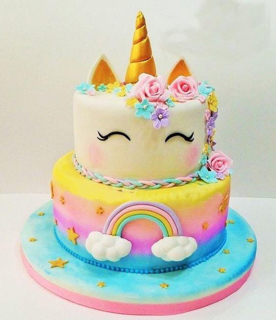 pastel cumpleaños unicornio