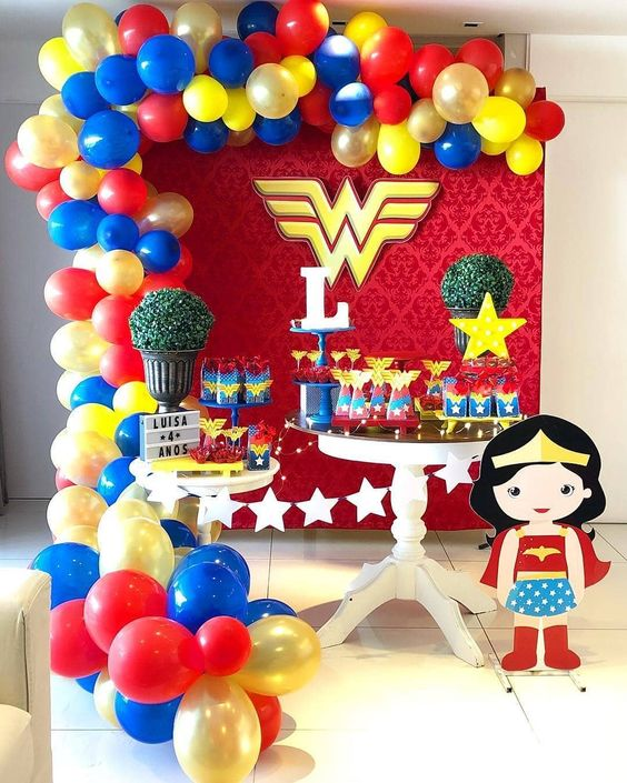 fiesta temática wonder woman