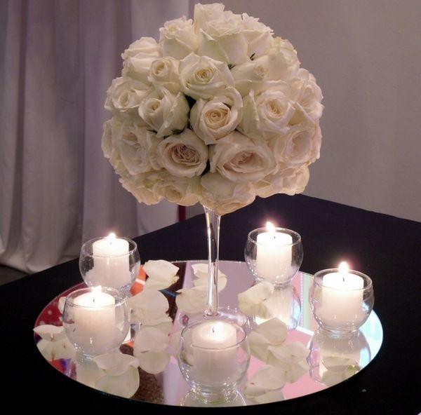 arreglo para mesa con flores naturales