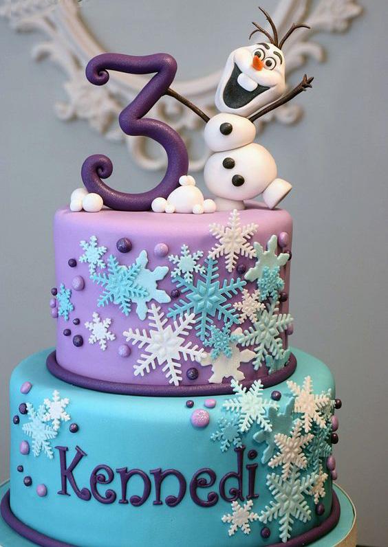 torta para fiesta de frozen