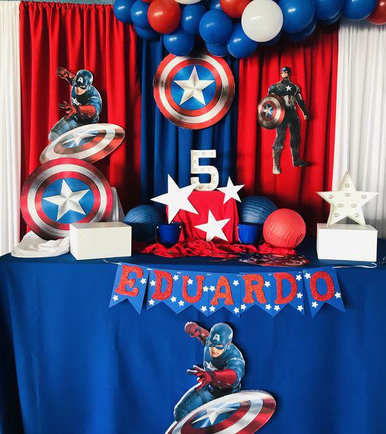 decoracion fiesta super heroes