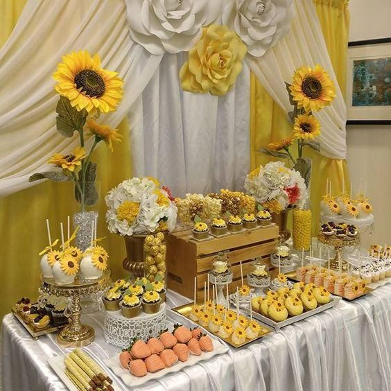 ideas de baby shower color amarillo