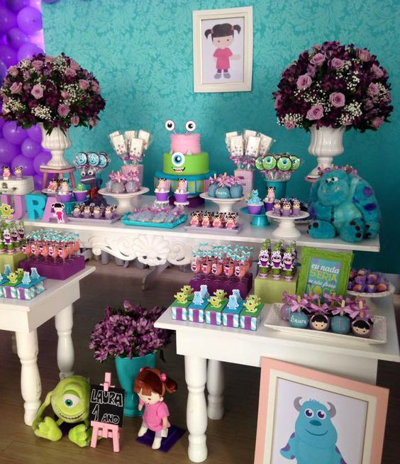 mesa de postre monsters inc de niña