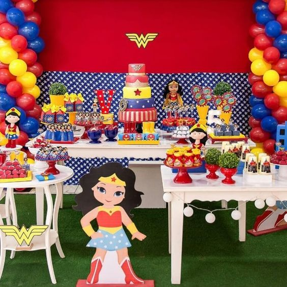 decoracion fiesta wonder woman