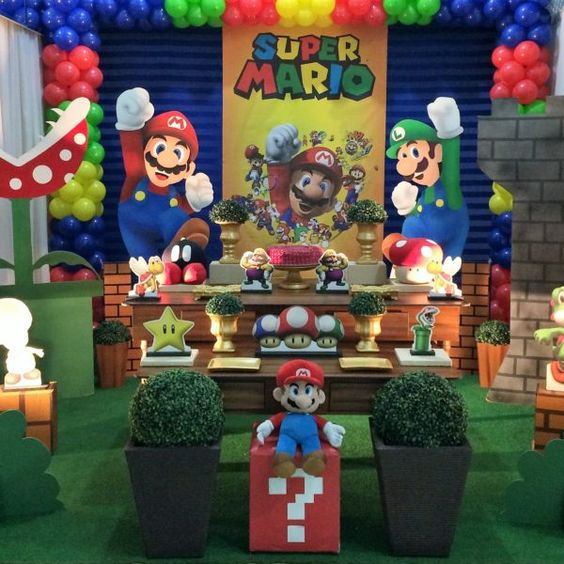 decoracion fiesta mario bros