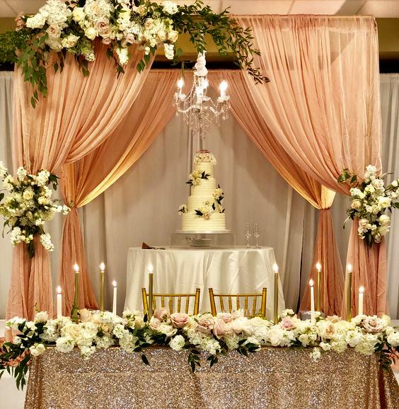 mesa pastel para boda
