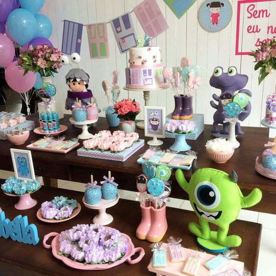 postres fiesta monsters inc de niña