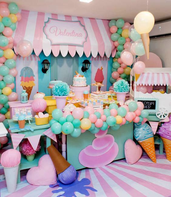 decoracion fiesta helados