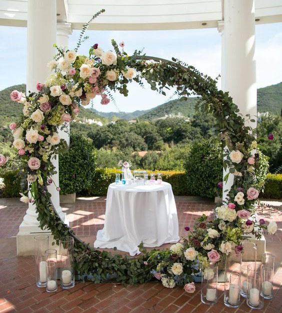 decoracion con flores para tu boda
