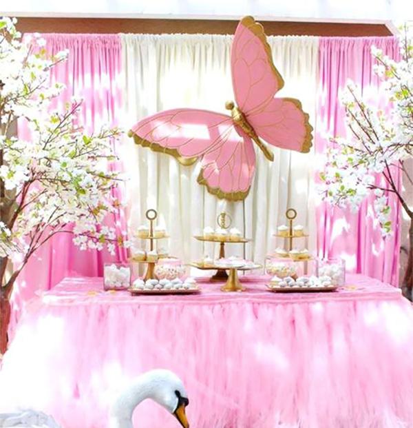 mesa de postres fiesta mariposa