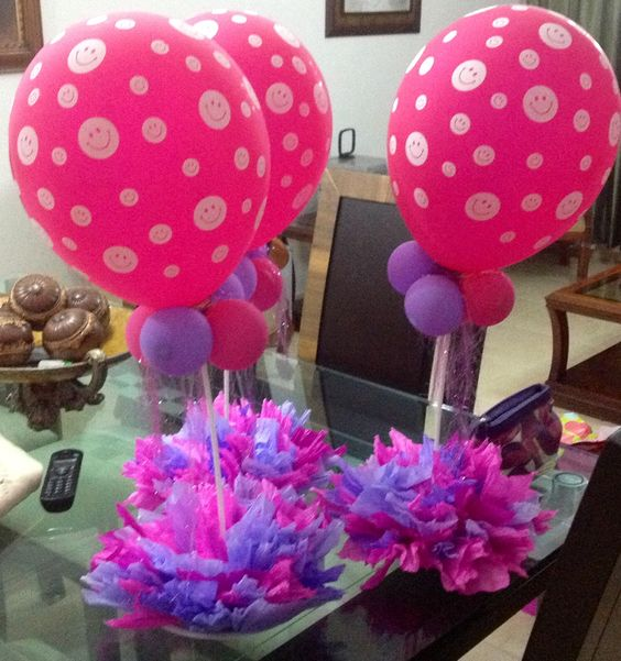 arreglos de globos para fiesta de cumpleaños