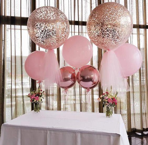 decoracion con globos gigantes