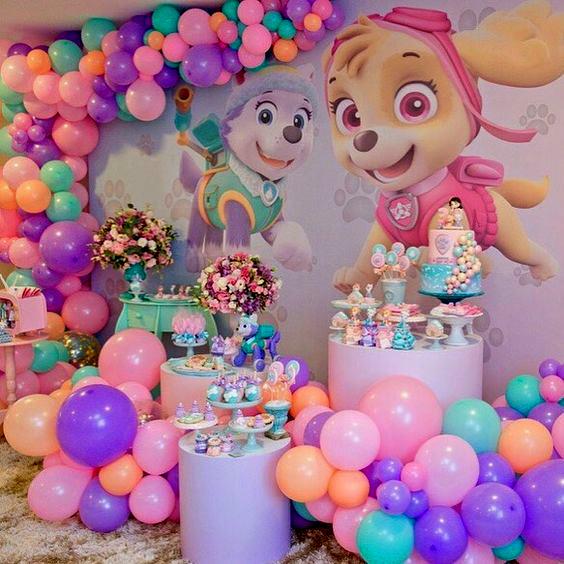 cumpleaños para niña de paw patrol
