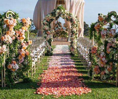flores para boda en jardin