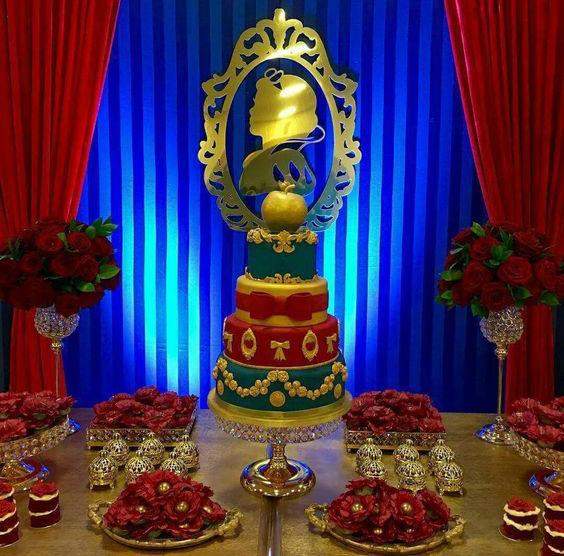 pastel fiesta blanca nieves