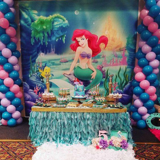 Decoración Fiesta Sirena Decoracion Para Fiestas