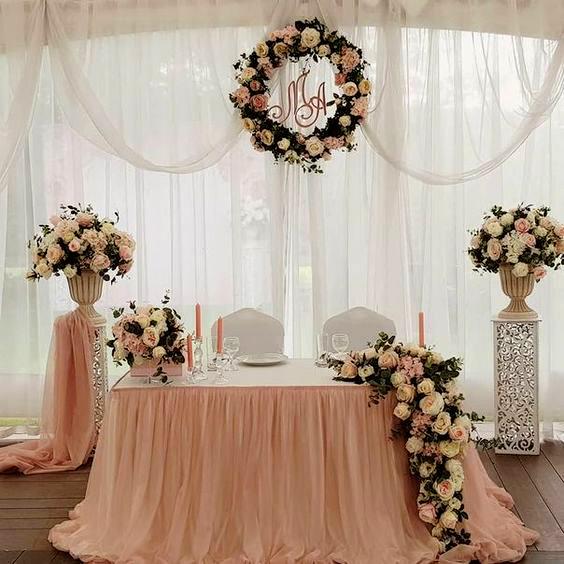 mesa principal para boda