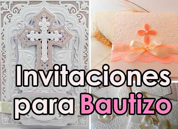 Ideas De Invitaciones Para Bautizo Decoracion Para Fiestas