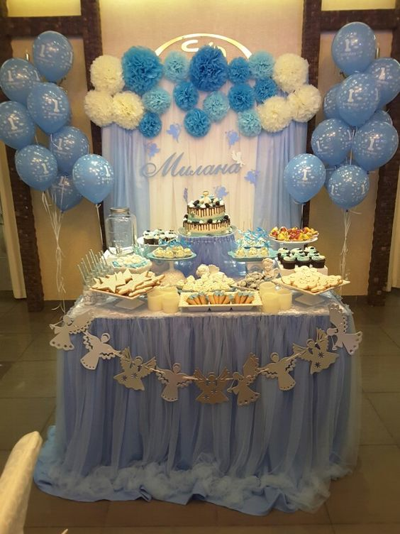 decoracion fiesta de bautizo
