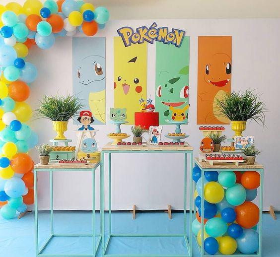 cumpleaños pokemon decoracion