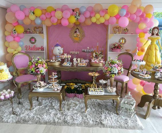fiesta infantil princesas bella