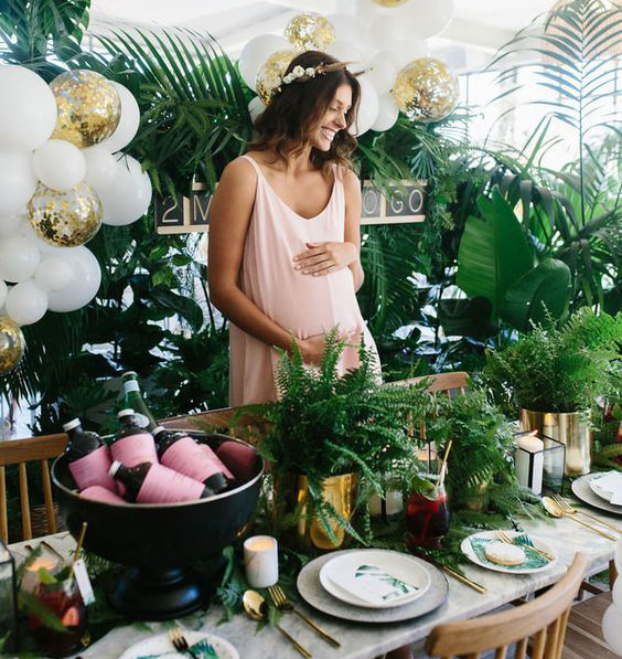 ideas verdes para baby shower