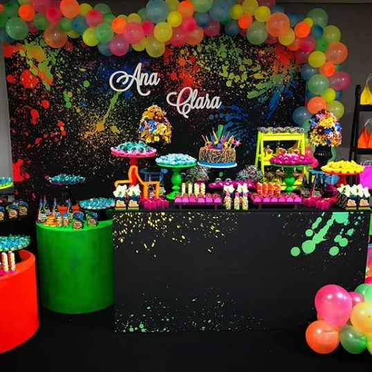 ideas fiesta tematica neon