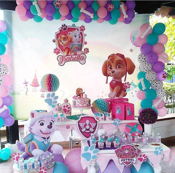 cumpleaños patrulla canina de niña