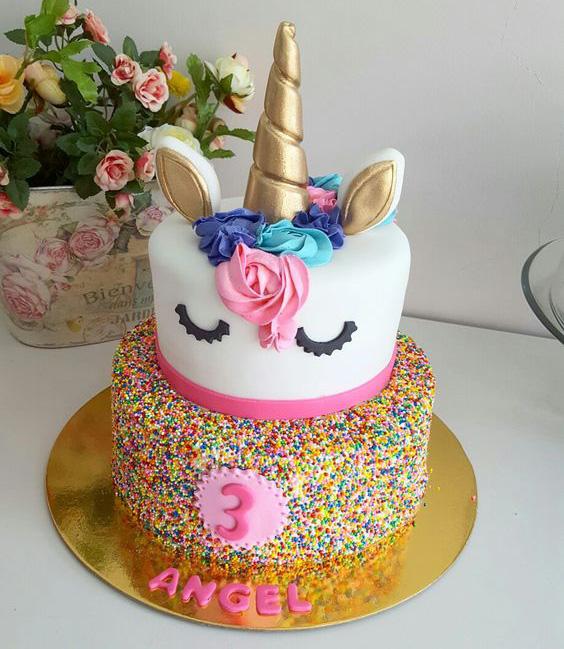 torta cumpleaños unicornio