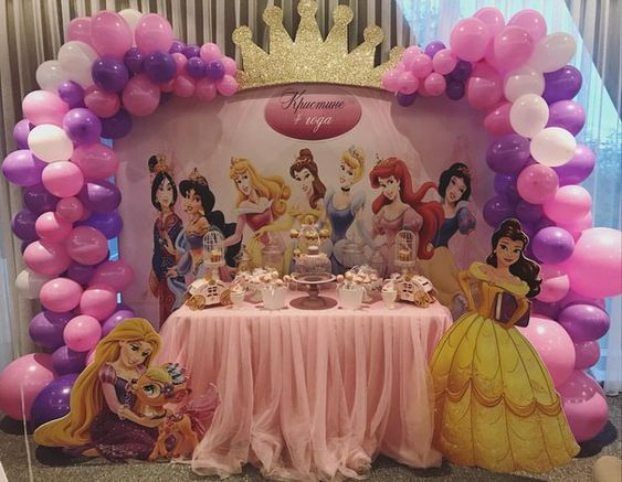 decoracion fiesta de princesas