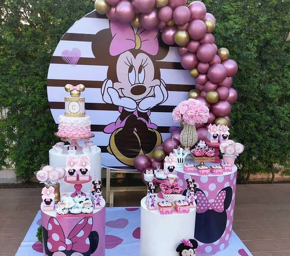 arreglo baby shower minnie mouse