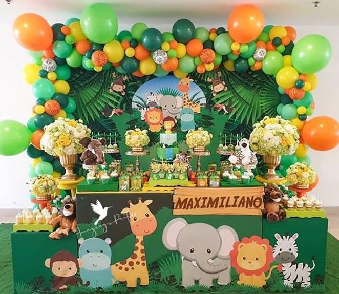 cumpleaños fiesta de la jungla