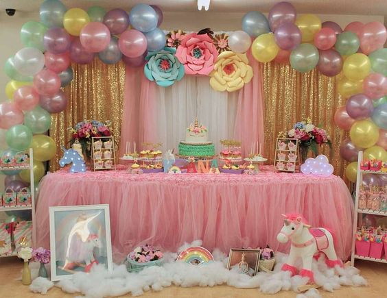 baby shower unicornio