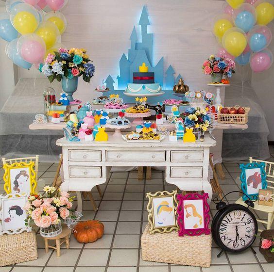 cumpleaños niña princesas